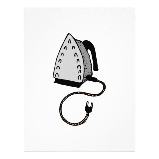 Hot Clothes Iron Letterhead Design