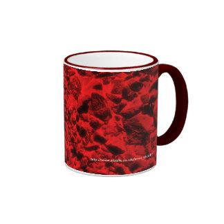 Hot coals ringer coffee mug