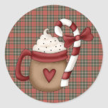 hot cocoa and candy cane sticker