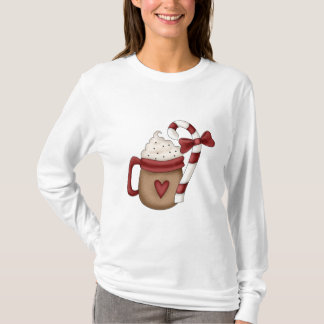 hot cocoa and candy cane T-Shirt