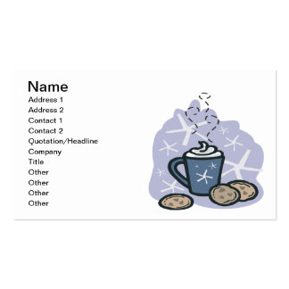 Hot Cocoa And Cookies Double-Sided Standard Business Cards (Pack Of 100)