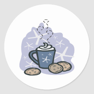 Hot Cocoa And Cookies Classic Round Sticker