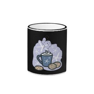 Hot Cocoa And Cookies Ringer Coffee Mug