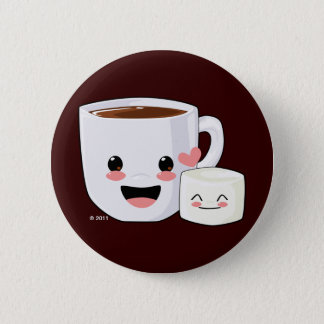 Hot Cocoa and Marshmallow Button