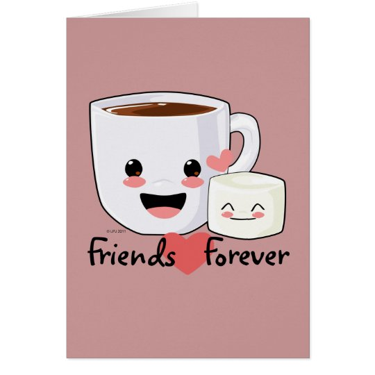 Hot Cocoa and Marshmallow Friendship card