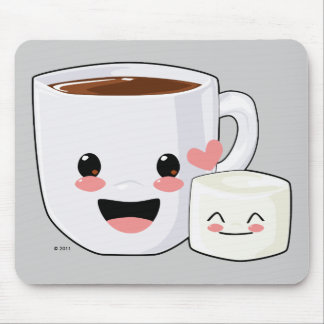 Hot Cocoa and Marshmallow Mousepad