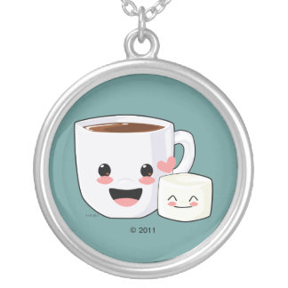 Hot Cocoa and Marshmallow Necklace