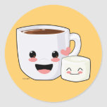 Hot Cocoa and Marshmallow Stickers
