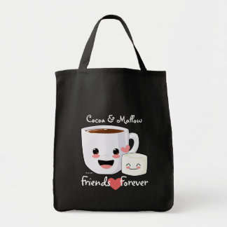 Hot Cocoa and Marshmallow Tote Canvas Bags