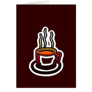 Hot Cocoa Coffee Cup Card