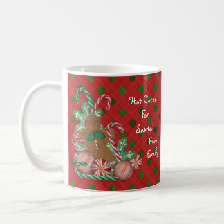 Hot Cocoa for Santa mug personalized