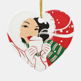 Hot Cocoa Heart Ornament