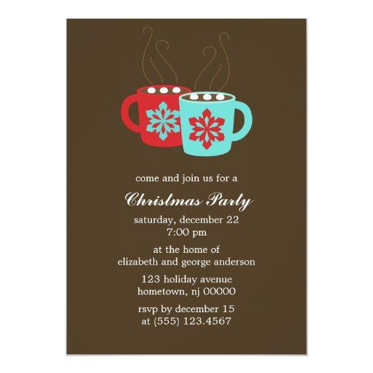 Hot Cocoa Holiday Party Invitations Zazzle Com