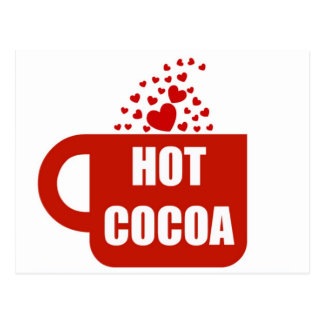 Hot Cocoa Mug Love Postcard