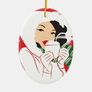 Hot Cocoa Oval Ornament