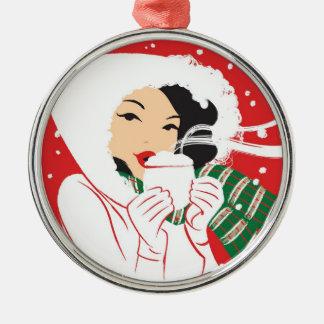 Hot Cocoa Premium Round Ornament