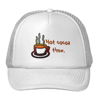 Hot cocoa time. mesh hats