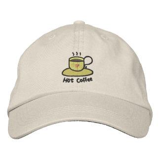Hot coffee (black outline) baseball cap