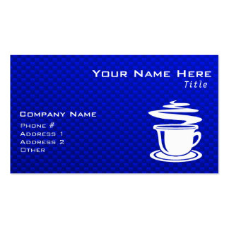 Hot Coffee; Blue Double-Sided Standard Business Cards (Pack Of 100)