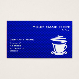 Hot Coffee; Blue Business Card
