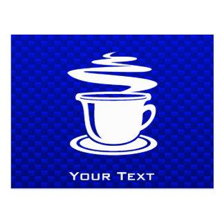Hot Coffee; Blue Postcard