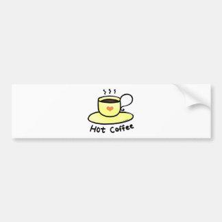 hot coffee bumper sticker