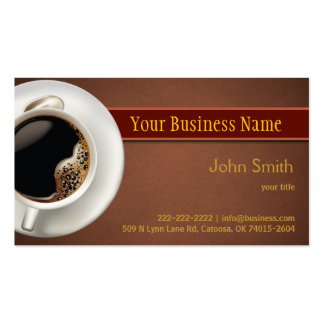 Hot Coffee Business Card