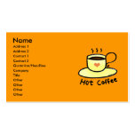 Hot coffee business card template