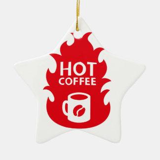 HOT COFFEE CERAMIC ORNAMENT