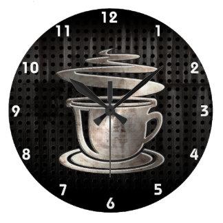 Hot Coffee; Cool Large Clock