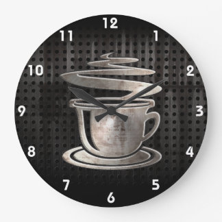 Hot Coffee; Cool Large Clock