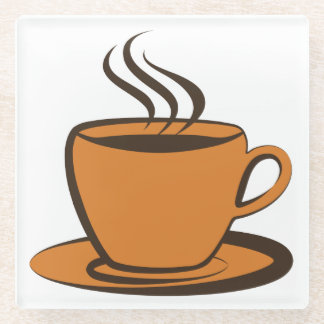 hot coffee cup glass coaster