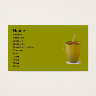 hot coffee cup_Vector_Clipart Business Card