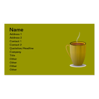 hot coffee cup_Vector_Clipart Double-Sided Standard Business Cards (Pack Of 100)