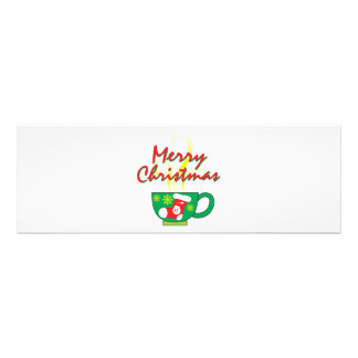 Hot Coffee Cup with Merry Christmas Hat Button Bag Photographic Print