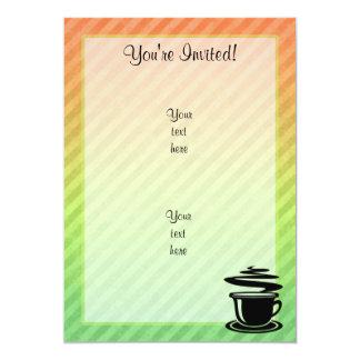 Hot Coffee design 5x7 Paper Invitation Card