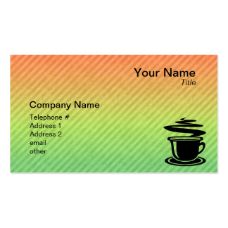 Hot Coffee design Double-Sided Standard Business Cards (Pack Of 100)