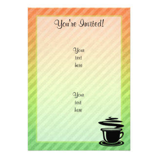 Hot Coffee design Custom Invitations