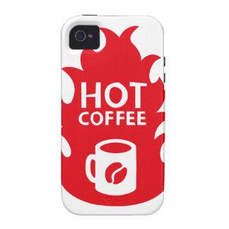 HOT COFFEE VIBE iPhone 4 FUNDA