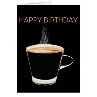 Hot Coffee Happy Birthday Card (Blank)
