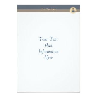 """Hot Coffee Invitation 5"""" X 7"""" Invitation Card"""