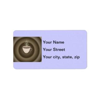 Hot Coffee Address Label