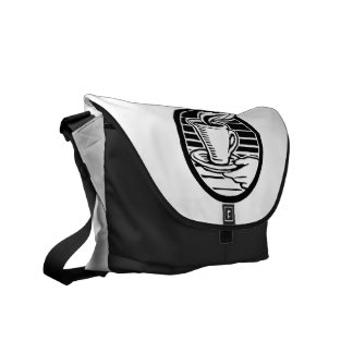 Hot Coffee Messenger Bag-Customizable Courier Bag