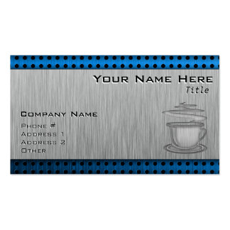 Hot Coffee; Metal-look Double-Sided Standard Business Cards (Pack Of 100)