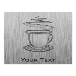Hot Coffee; Metal-look Postcard