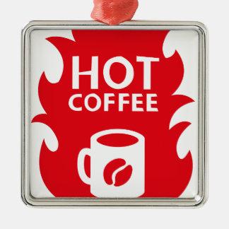 HOT COFFEE METAL ORNAMENT