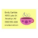 Hot Coffee Mug Business Cards Standard Business Cards