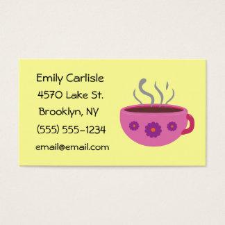 Hot Coffee Mug Business Cards