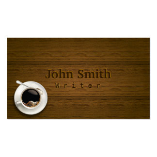 Hot Coffee on the Table Writer Business Card