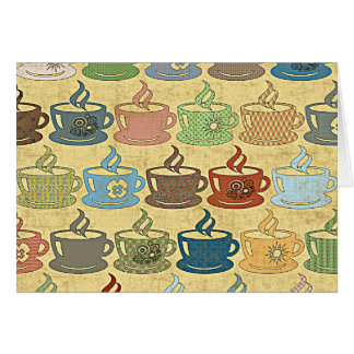 HOT COFFEE OR TEA STATIONERY NOTE CARD